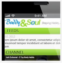עיצוב אפליקציה Boddy & Soul