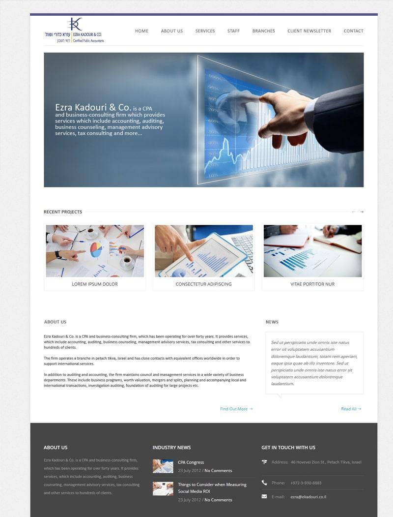 פרוייקט פיתוח אתר כדורי