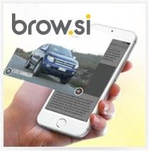 פרויקט עיצוב אתר brow.si