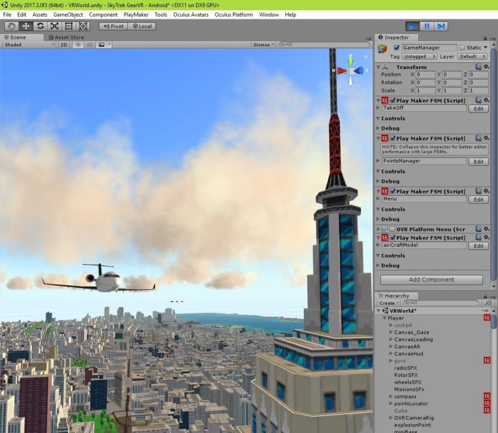 פיתוח משחק מציאות מדומה